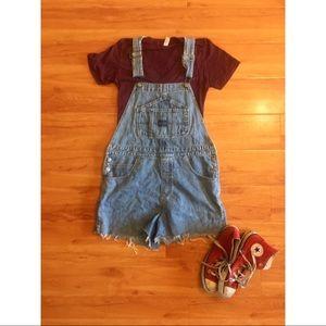 Union Bay denim overall shorts